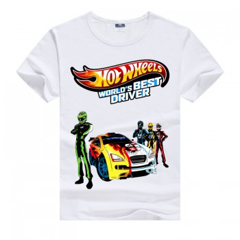 Белая футболка для мальчика Hot Wheels