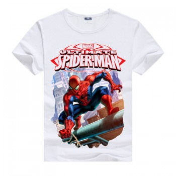 Белая детская футболка Spiderman
