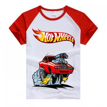 Белая футболка с машинкой Hot Wheels
