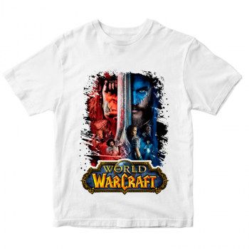 Белая футболка World of Warcraft
