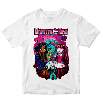 Белая футболка Monster High
