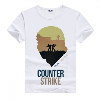 Белая футболка Counter Strike